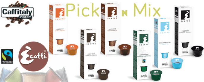 Ecaffe Coffee Capsules Mix Box